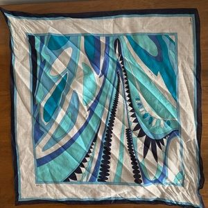 Emilio Pucci Cotton Handkerchief/Small Scarf
